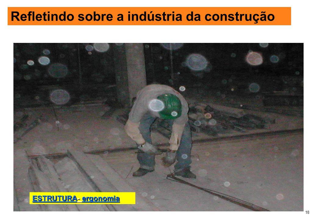 18 Refletindo sobre a indústria da construção ESTRUTURA- ergonomia