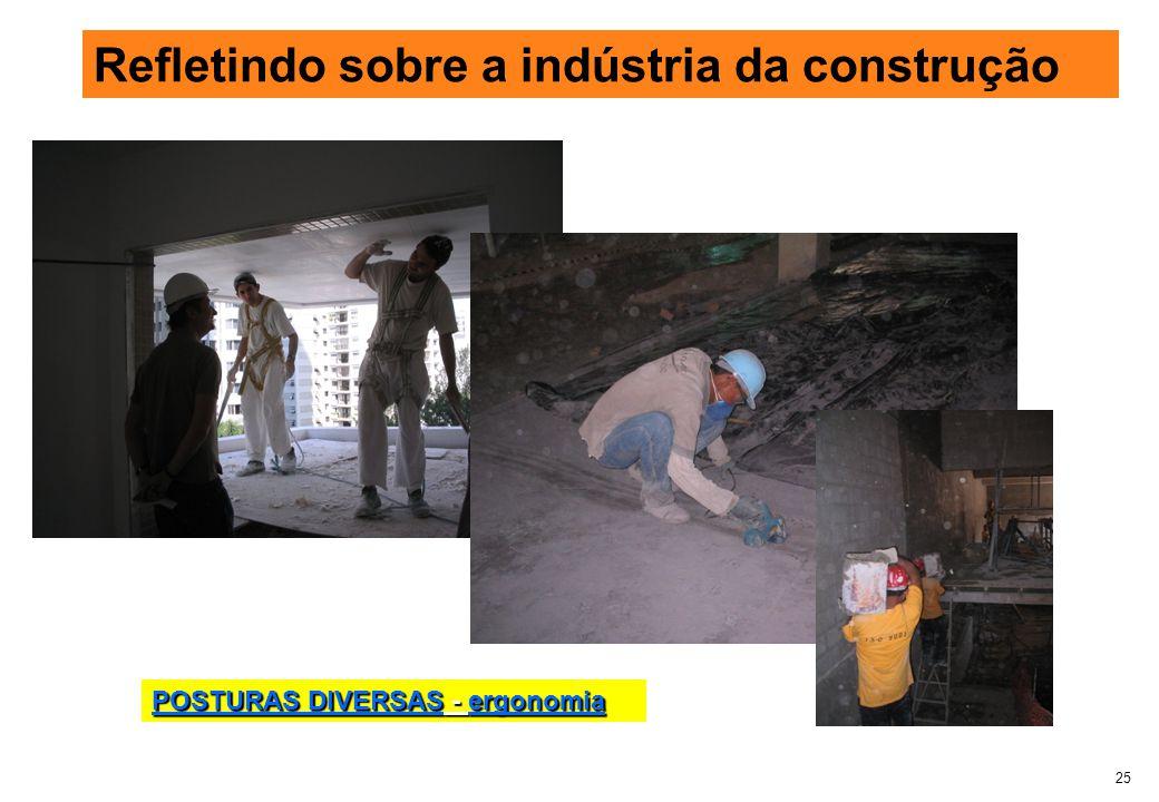 25 Refletindo sobre a indústria da construção POSTURAS DIVERSAS - ergonomia