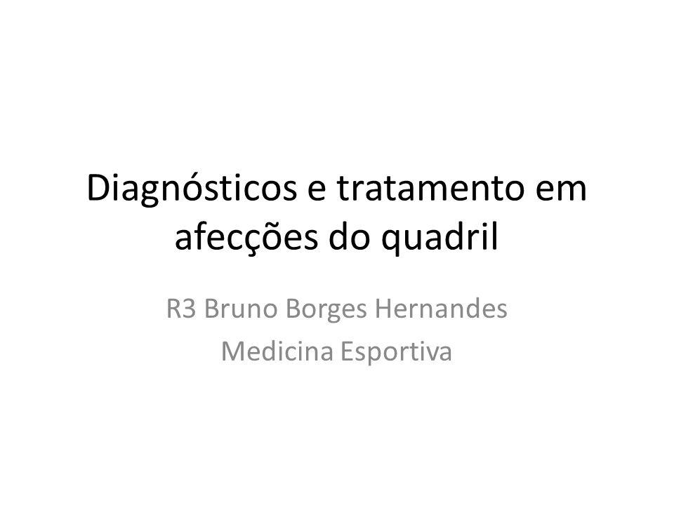 Diagnósticos e tratamento em afecções do quadril R3 Bruno Borges Hernandes Medicina Esportiva