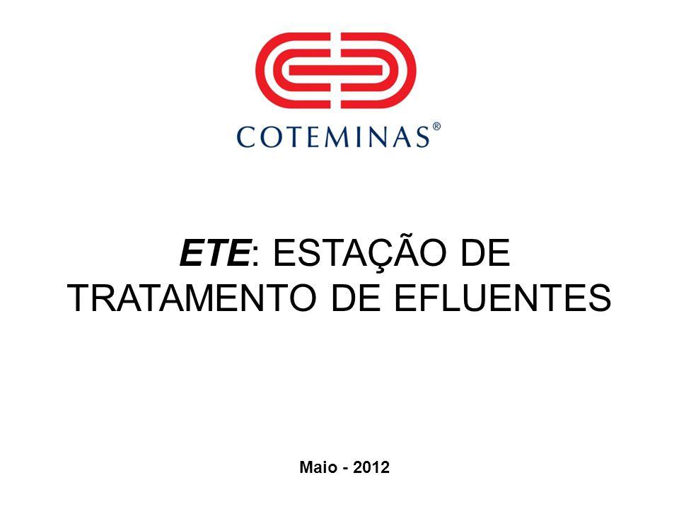 ETE: ESTAÇÃO DE TRATAMENTO DE EFLUENTES Maio - 2012