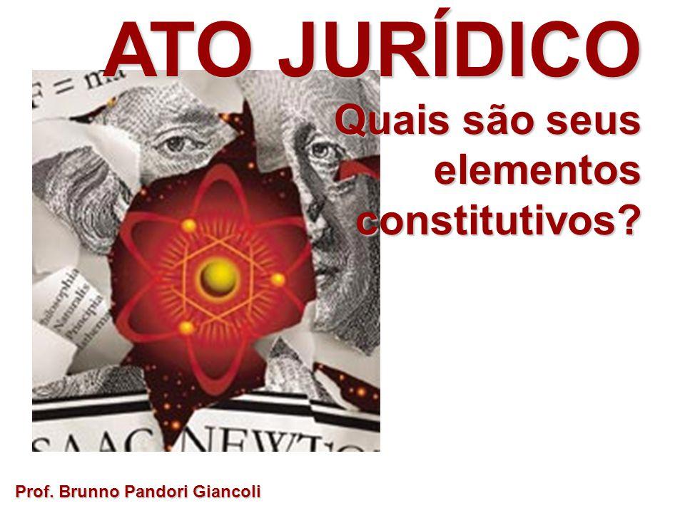 ATO JURÍDICO Quais são seus Quais são seuselementosconstitutivos? Prof. Brunno Pandori Giancoli