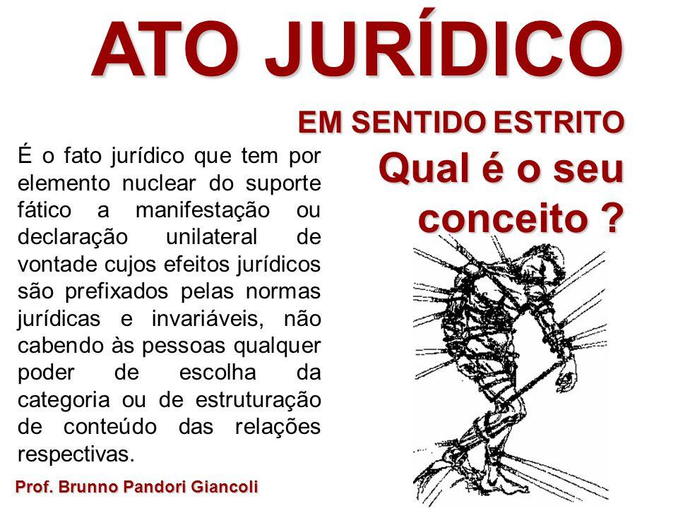 É o fato jurídico que tem por elemento nuclear do suporte fático a manifestação ou declaração unilateral de vontade cujos efeitos jurídicos são prefix