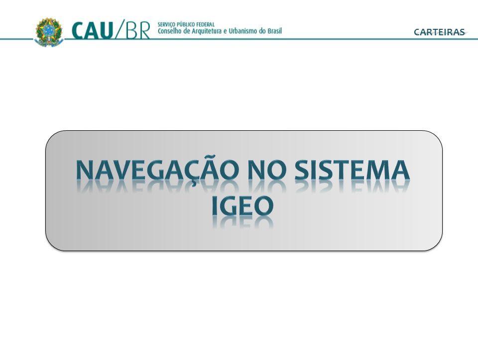 COMANDOS NAVEGAÇÃO NO SISTEMA CARTEIRAS