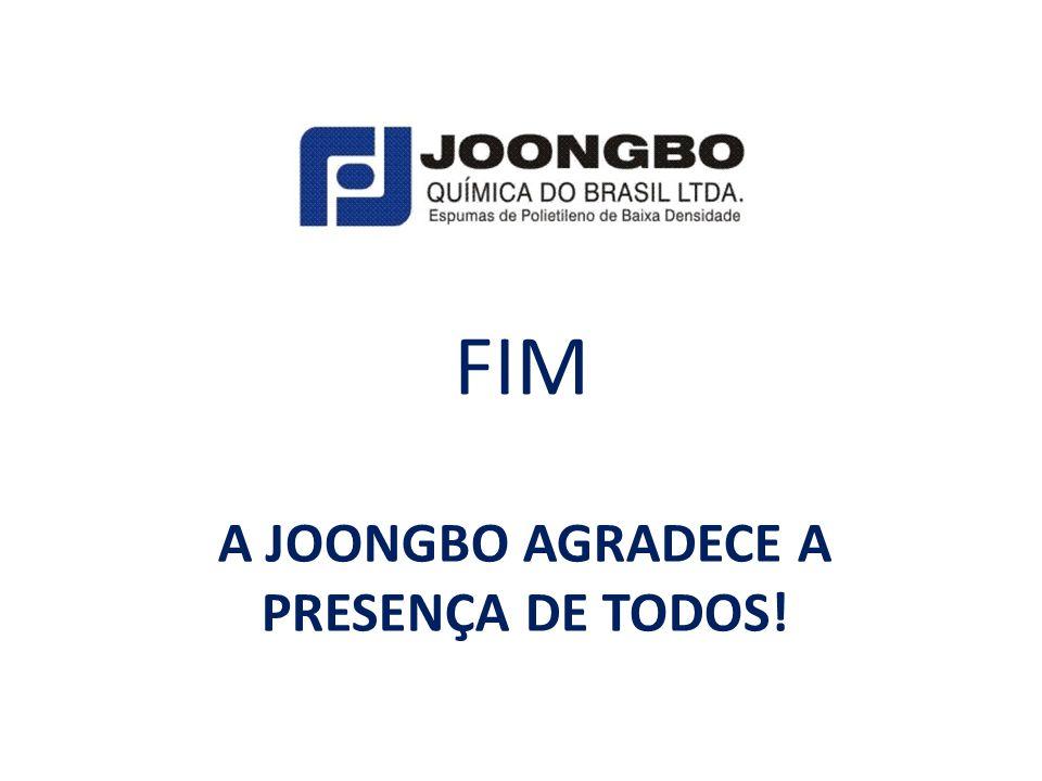 A JOONGBO AGRADECE A PRESENÇA DE TODOS! FIM