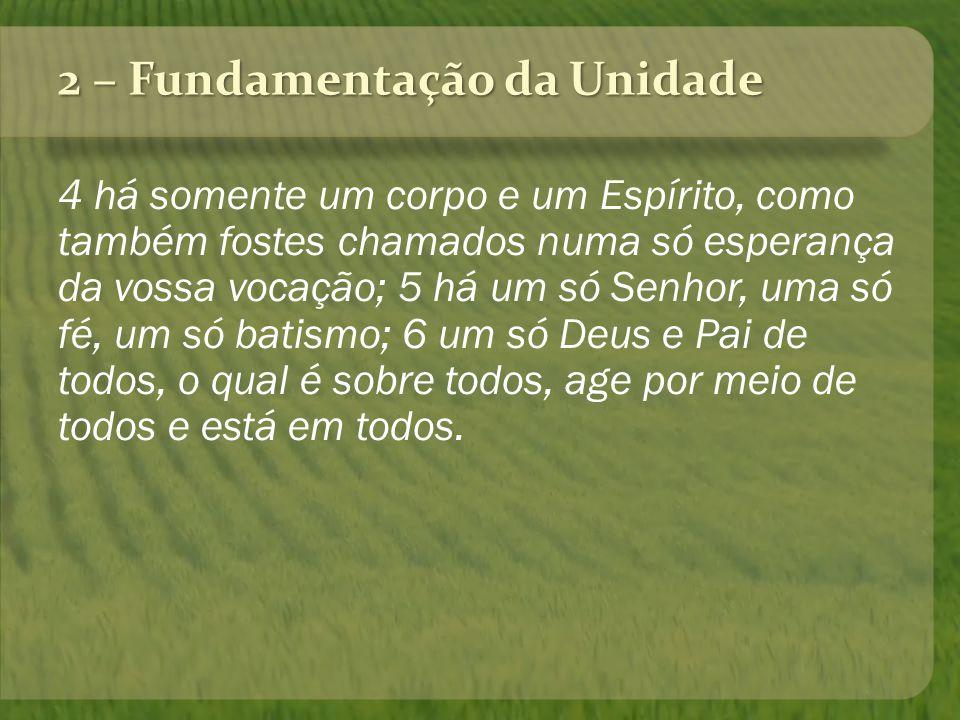 UNIDADE 1 Corpo1 Espírito1 Esperança1 Senhor1 Fé1 Batismo1 Deus e Pai