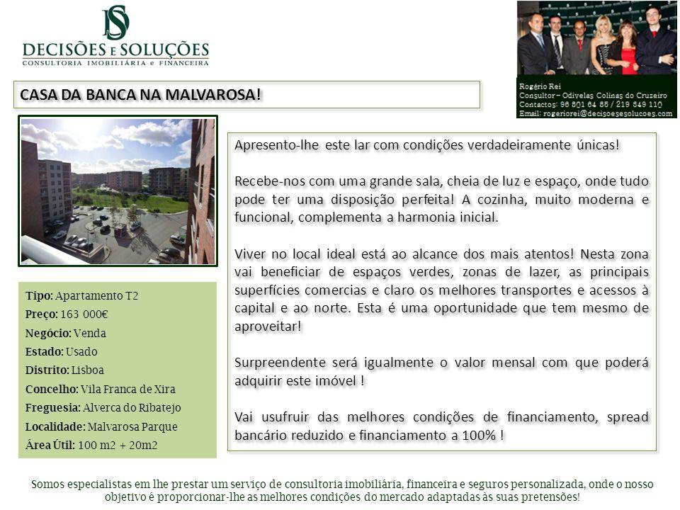 Inserir foto de apresentação CASA DA BANCA NA MALVAROSA! Somos especialistas em lhe prestar um serviço de consultoria imobiliária, financeira e seguro