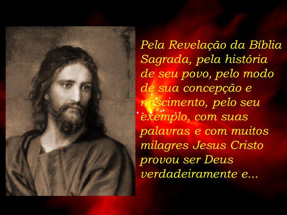Assumindo a nossa natureza humana sem deixar de ser Deus, na pessoa de Jesus Cristo nascido da Virgem Maria em Belém!