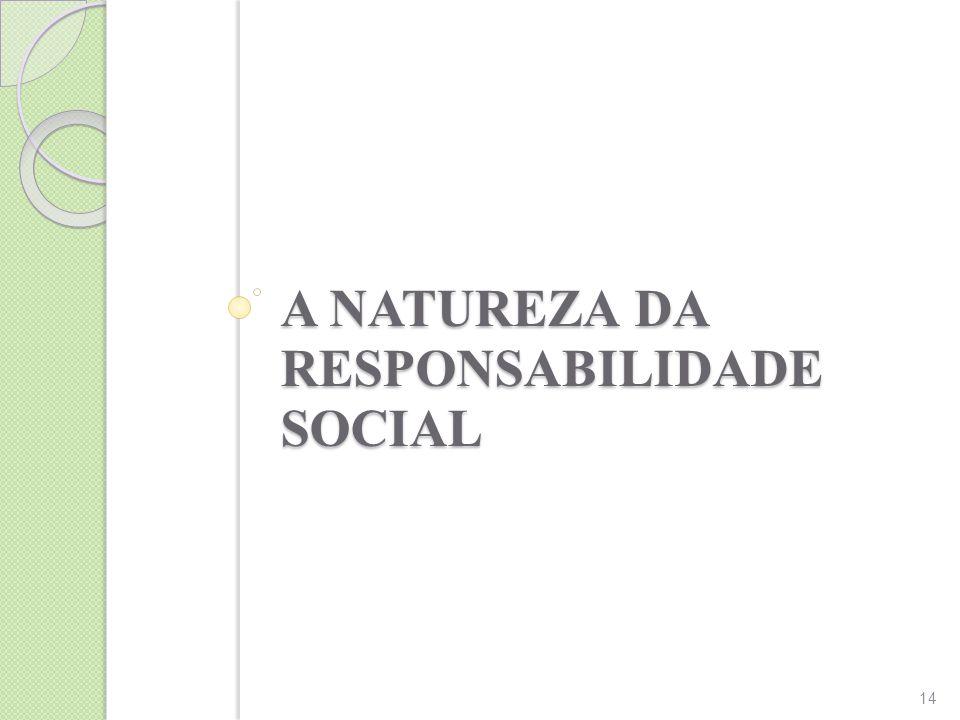 A NATUREZA DA RESPONSABILIDADE SOCIAL 14