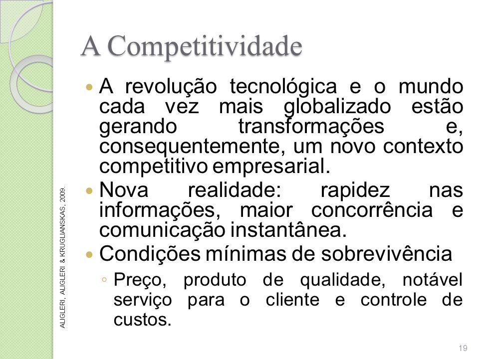 A Competitividade A revolução tecnológica e o mundo cada vez mais globalizado estão gerando transformações e, consequentemente, um novo contexto compe
