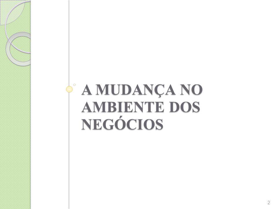 A MUDANÇA NO AMBIENTE DOS NEGÓCIOS 2