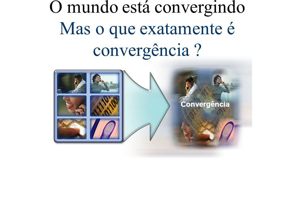 Convergência O mundo está convergindo Mas o que exatamente é convergência ?