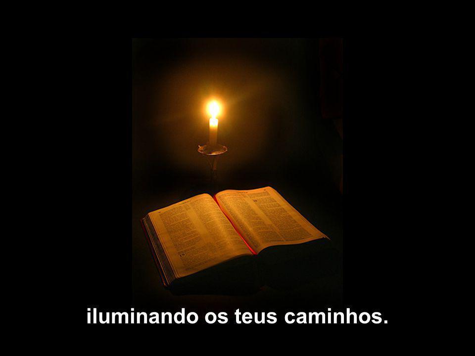 iluminando os teus caminhos.