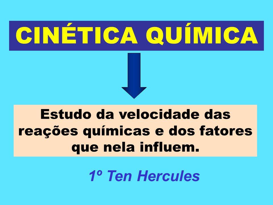 CINÉTICA QUÍMICA CLASSIFICAÇÃO DAS REAÇÕES CINÉTICAS I - Quanto à velocidade Rápidas: neutralizações em meio aquoso, combustões,...