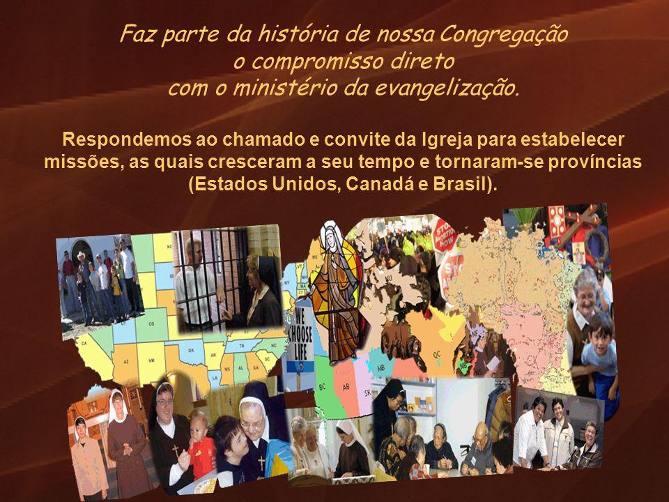 Faz parte da história de nossa Congregação o compromisso direto com o ministério da evangelização. Respondemos ao chamado e convite da Igreja para est