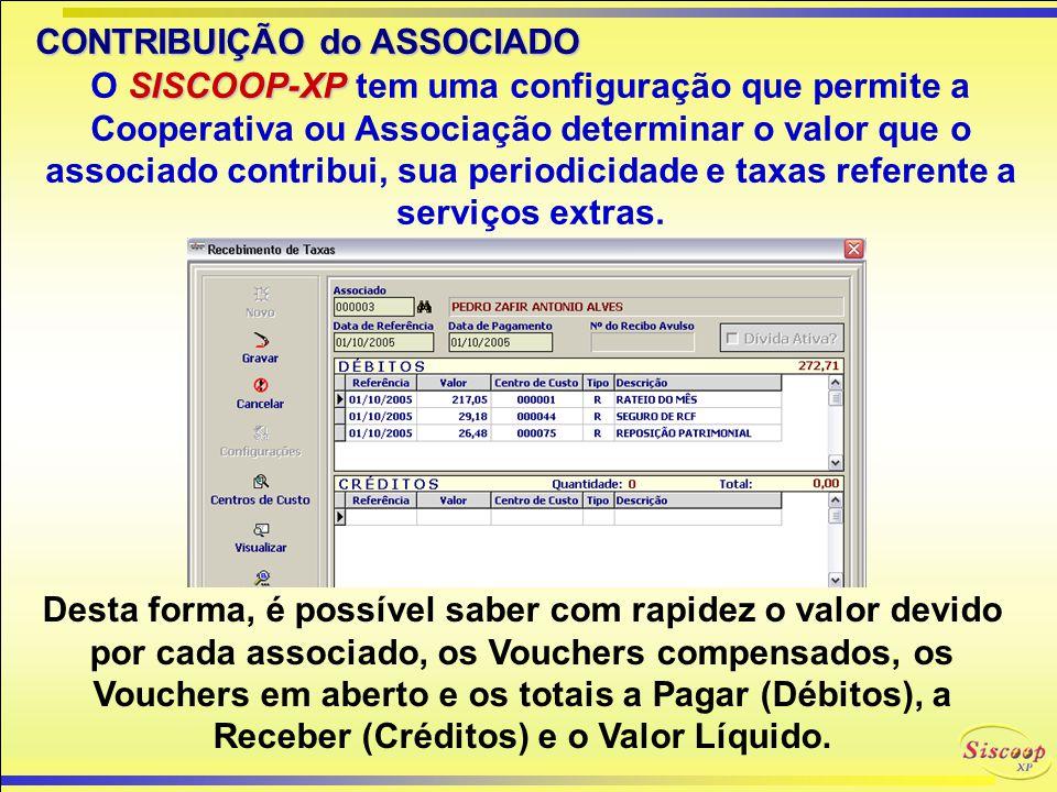 CONTROLE de FORNECEDOR SISCOOP-XP O SISCOOP-XP possui um cadastro de Fornecedores para controle de suas Contas a Pagar.