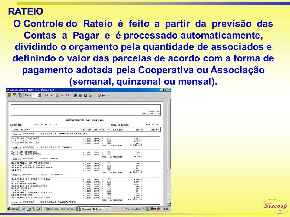 A cobrança do associado poderá ser feita por boleto bancário ou recibo emitidos diretamente no sistema, com baixa automática através de arquivo retorn