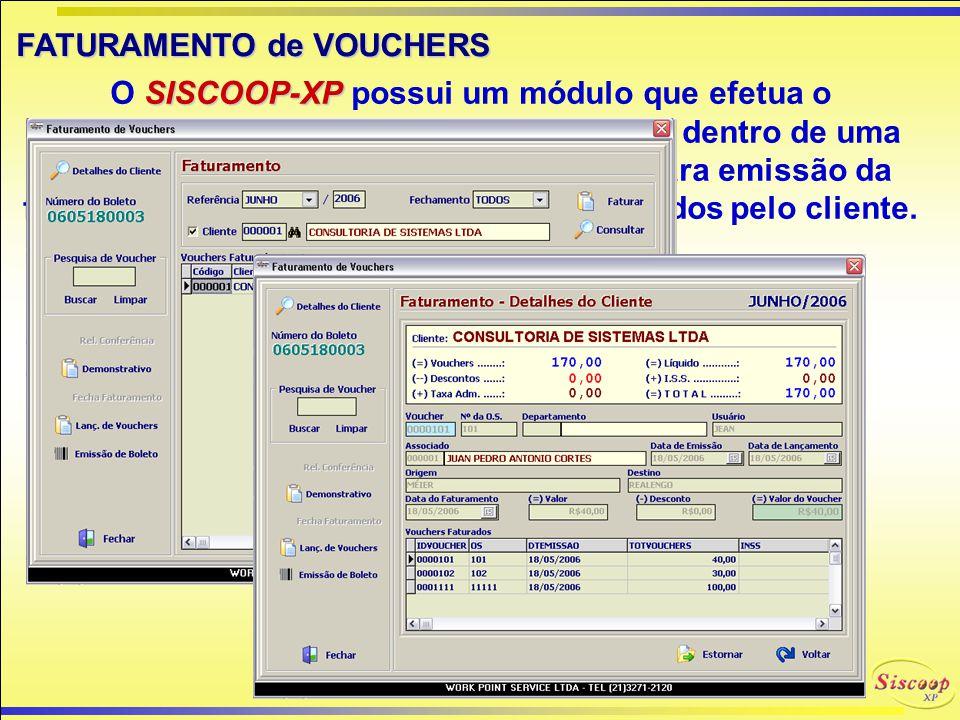 COMPRA de VOUCHERS O Controle de compra de Vouchers possibilita que um associado compre o Voucher de um outro associado.