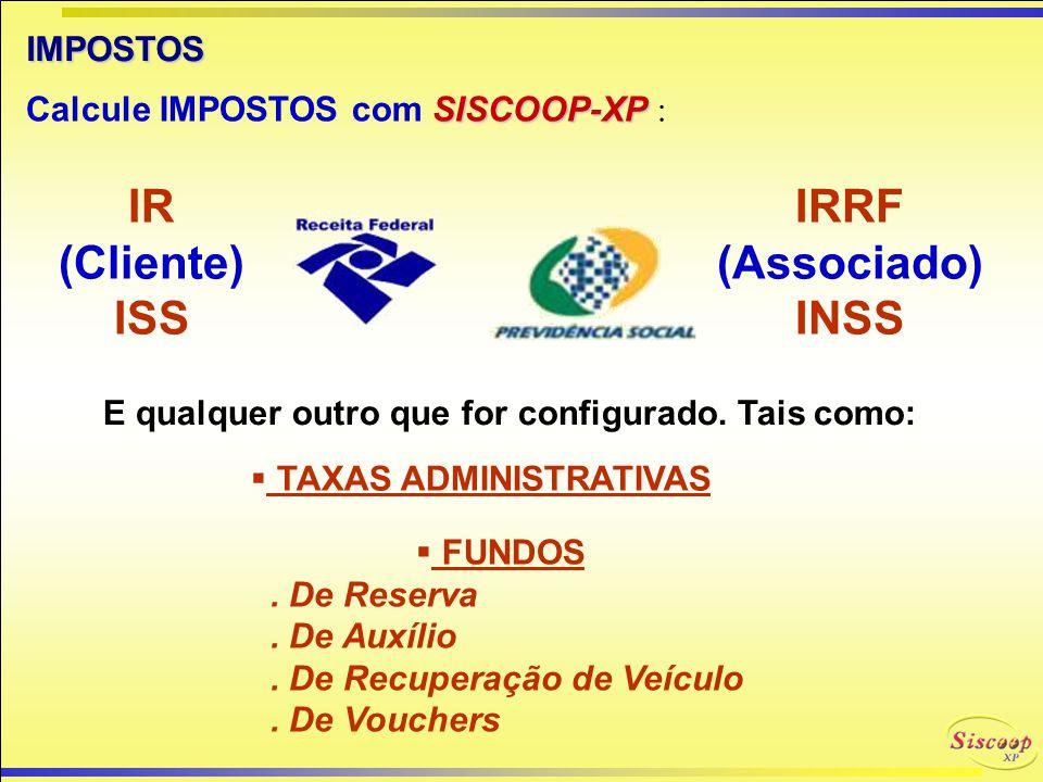 IMPRESSÃO de RECIBOS Impressão de recibos (em 3 vias) pré-formatados para comprovação do pagamento das taxas dos associados