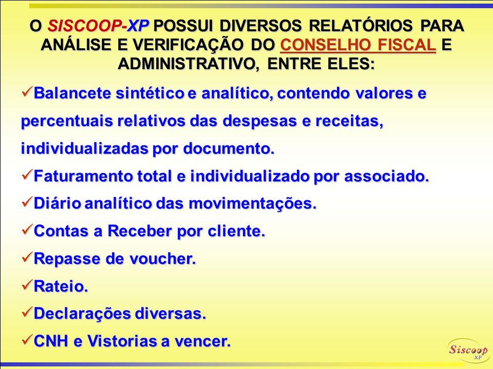 O SISCOOP-XPfoi desenvolvido a fim de controlar todas as atividades da Cooperativa ou Associação, auxiliando o trabalho: O SISCOOP-XP foi desenvolvido