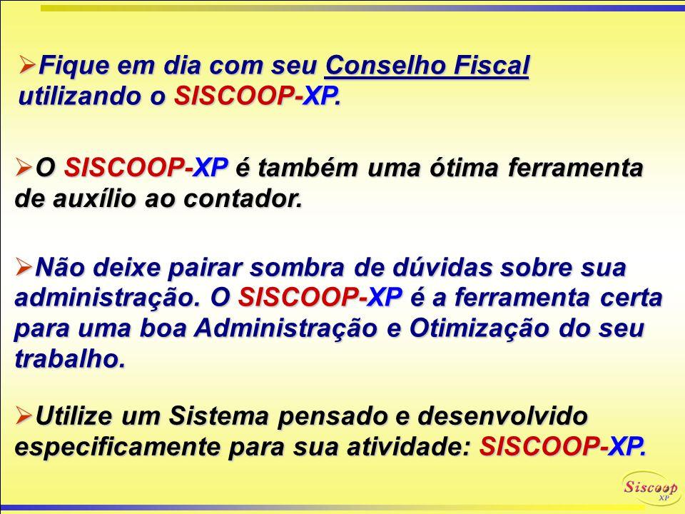 IMPOSTOS SISCOOP-XP Calcule IMPOSTOS com SISCOOP-XP : IR (Cliente) ISS IRRF (Associado) INSS E qualquer outro que for configurado. Tais como: TAXAS AD