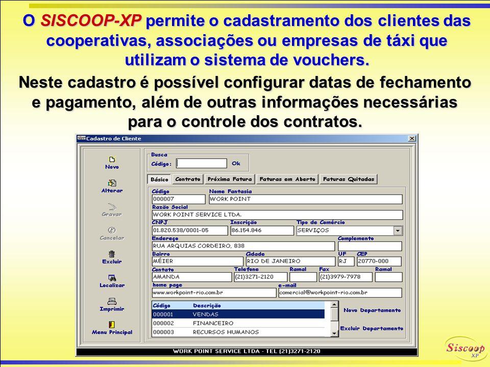 O SISCOOP-XP permite um controle de acesso, através da personalização de senhas por usuário. E para tranqüilidade de nossos clientes, oferecemos: Inst