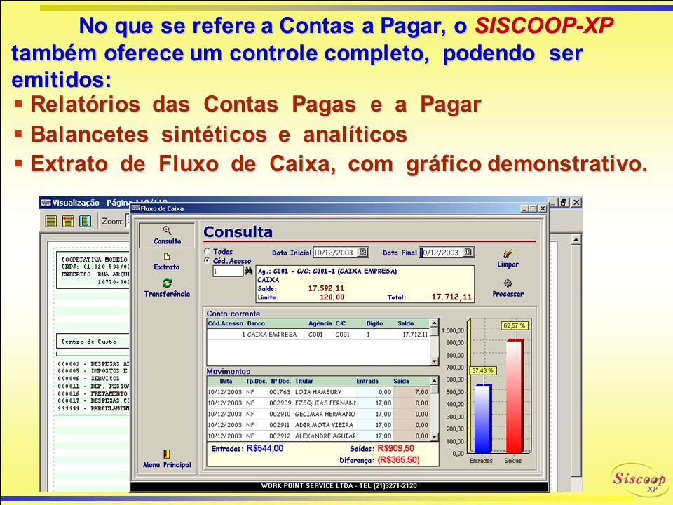 FINANCEIRA GERÊNCIA FINANCEIRA SISCOOP-XP Graças a todos estes processos e facilidades do SISCOOP-XP, todo o controle financeiro no que tange a recebi