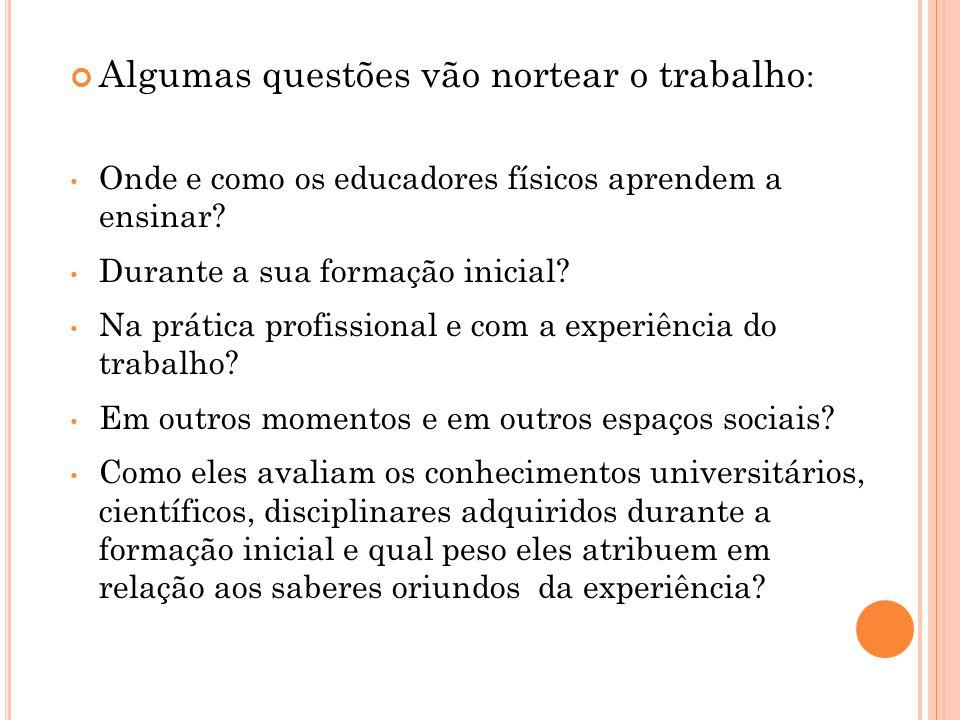 Eles reconhecem sua formação inicial na universidade como uma das fontes de aprendizagem de seus saberes profissionais?