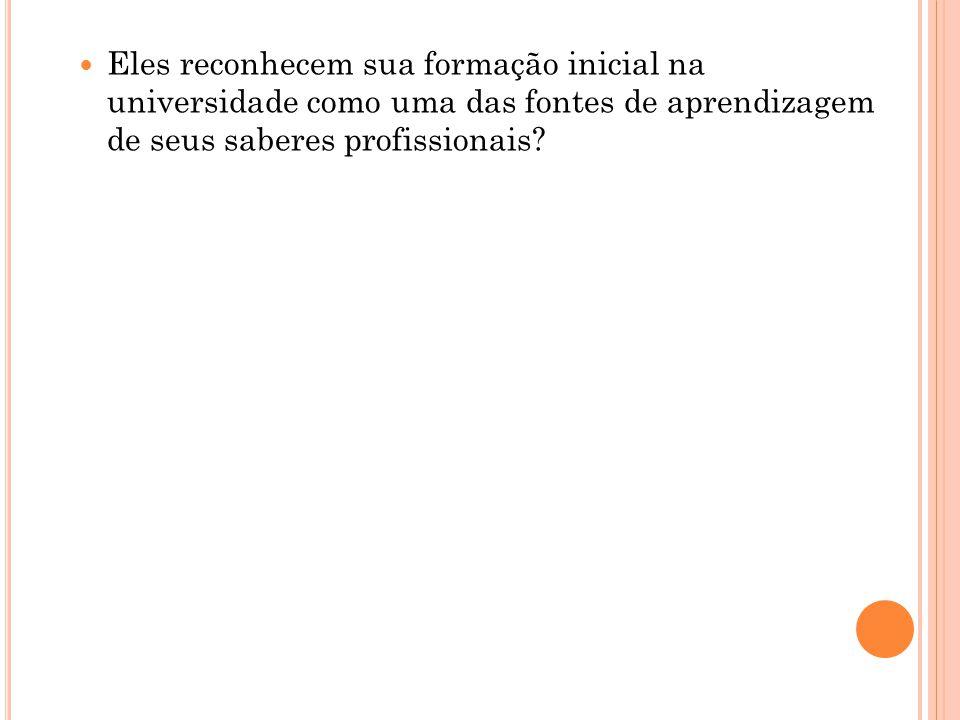 A FONTE DOS SABERES DOCENTES Para Shulman (1986a, 1987) existem três tipos de conhecimento: 1.