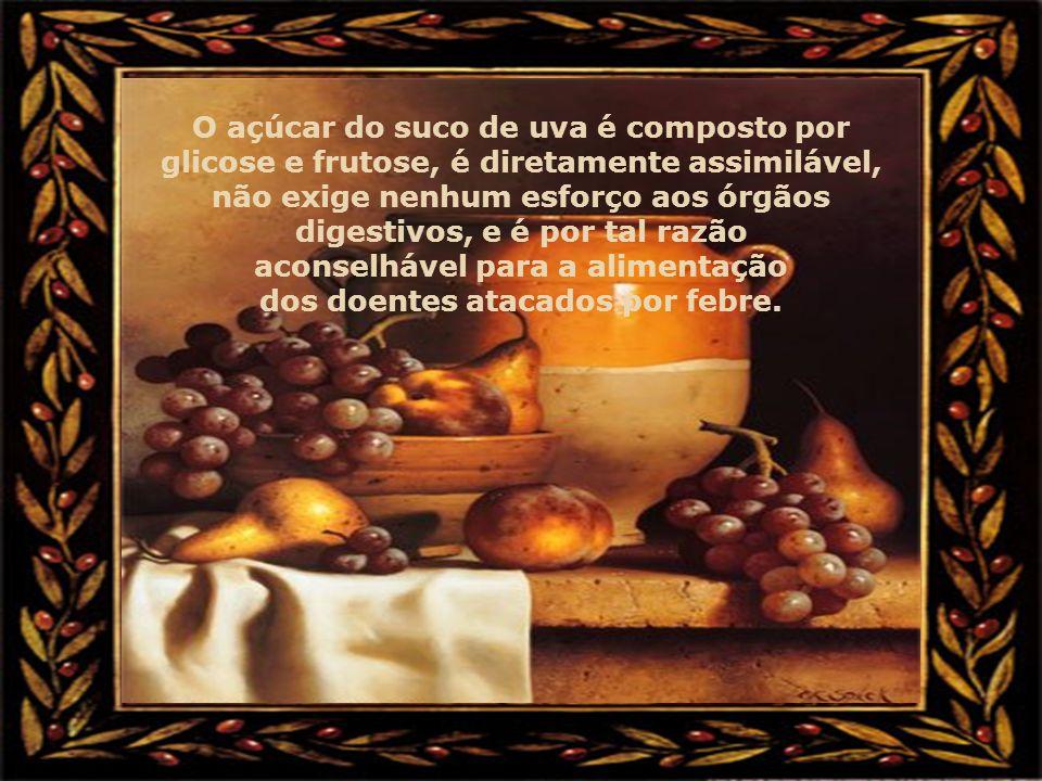 A tradição atribuiu ao suco de uva as mais elogiosas expressões como: sangue vegetal, leite vegetal e seiva viva. O suco de uva contém mais calorias q