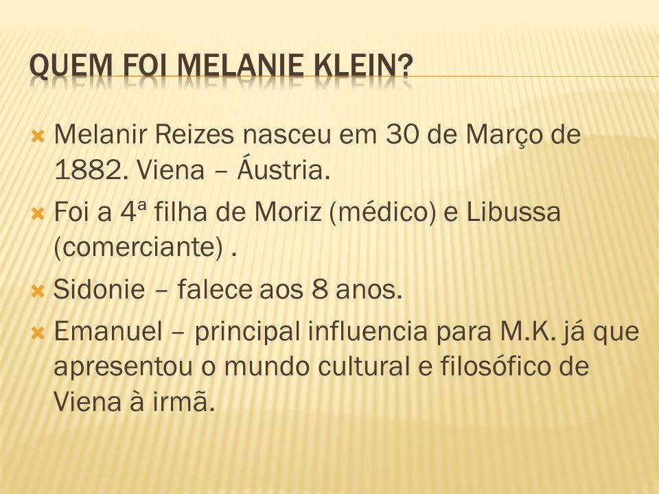 Melanir Reizes nasceu em 30 de Março de 1882. Viena – Áustria. Foi a 4ª filha de Moriz (médico) e Libussa (comerciante). Sidonie – falece aos 8 anos.