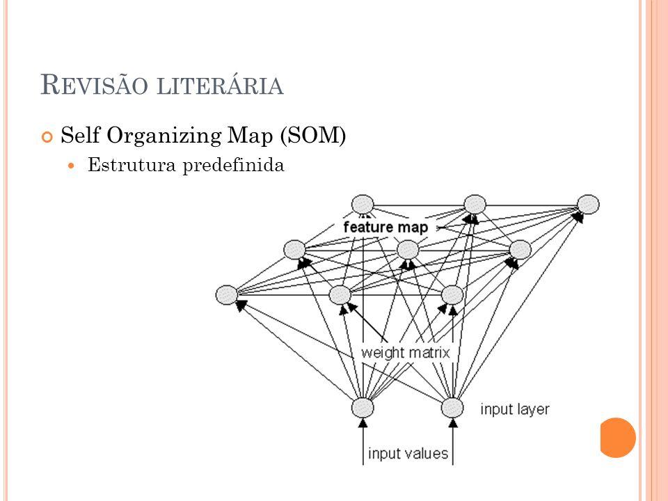R EVISÃO LITERÁRIA Self Organizing Map (SOM) Estrutura predefinida
