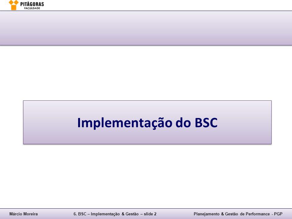 Márcio Moreira6. BSC – Implementação & Gestão – slide 2Planejamento & Gestão de Performance - PGP Implementação do BSC