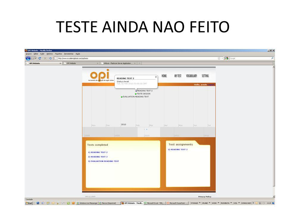 TESTE AINDA NAO FEITO