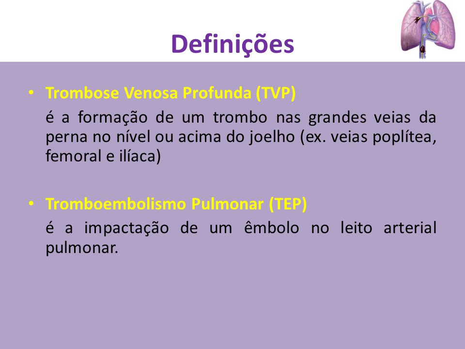 TEP- Sinais e Sintomas Guidelines on diagnosis and management of acute pulmonary embolism. 2010