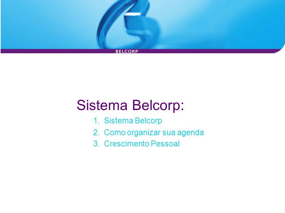 Sistema Belcorp: 1.Sistema Belcorp 3.Crescimento Pessoal 2.Como organizar sua agenda
