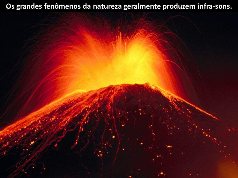Os grandes fenômenos da natureza geralmente produzem infra-sons.