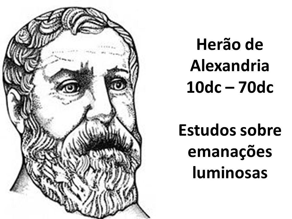 Herão de Alexandria 10dc – 70dc Estudos sobre emanações luminosas