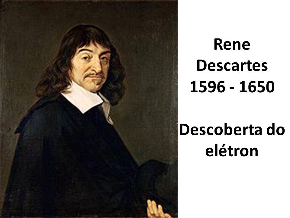 Rene Descartes 1596 - 1650 Descoberta do elétron