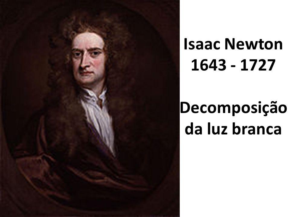 Isaac Newton 1643 - 1727 Decomposição da luz branca