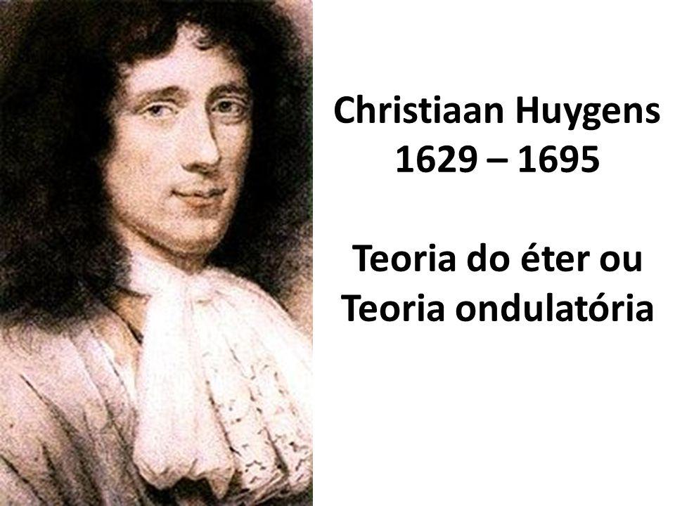 Christiaan Huygens 1629 – 1695 Teoria do éter ou Teoria ondulatória