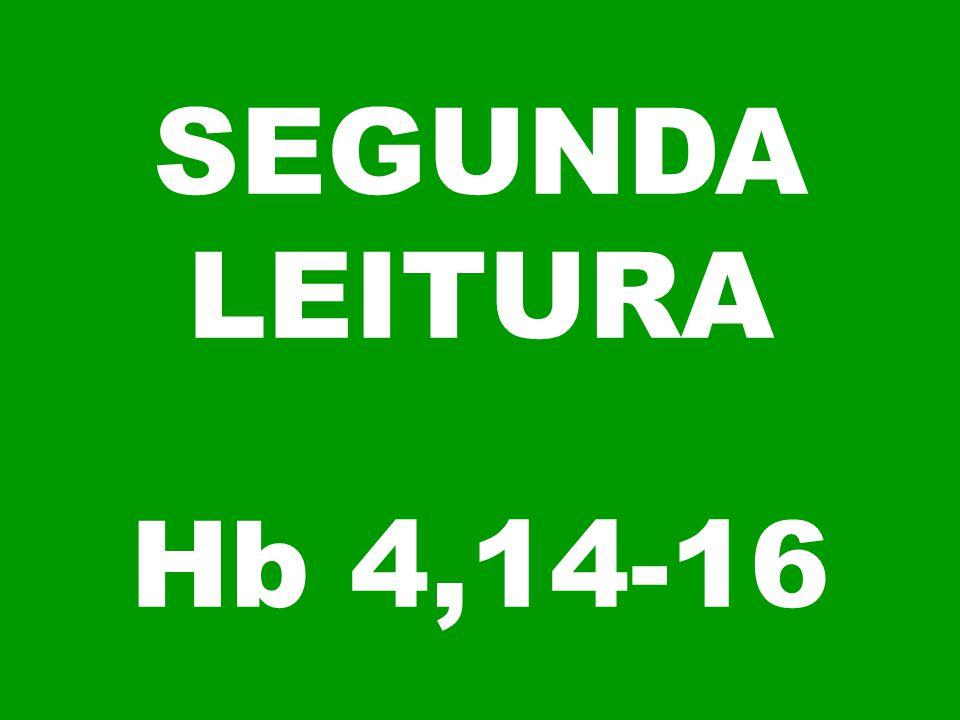 SEGUNDA LEITURA Hb 4,14-16