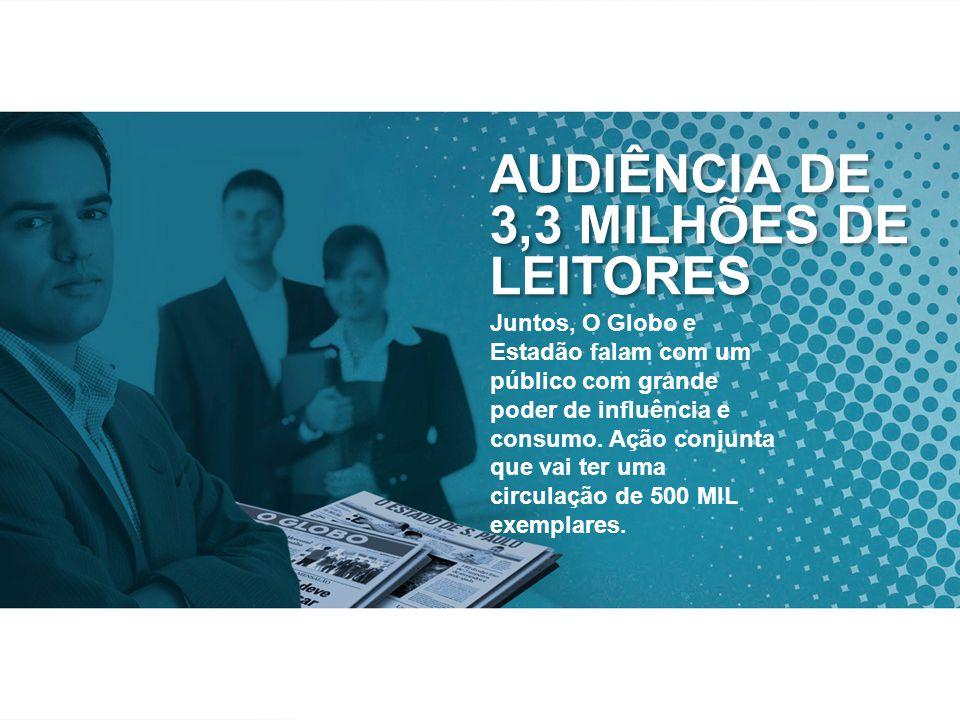 Juntos, O Globo e Estadão falam com um público com grande poder de influência e consumo.