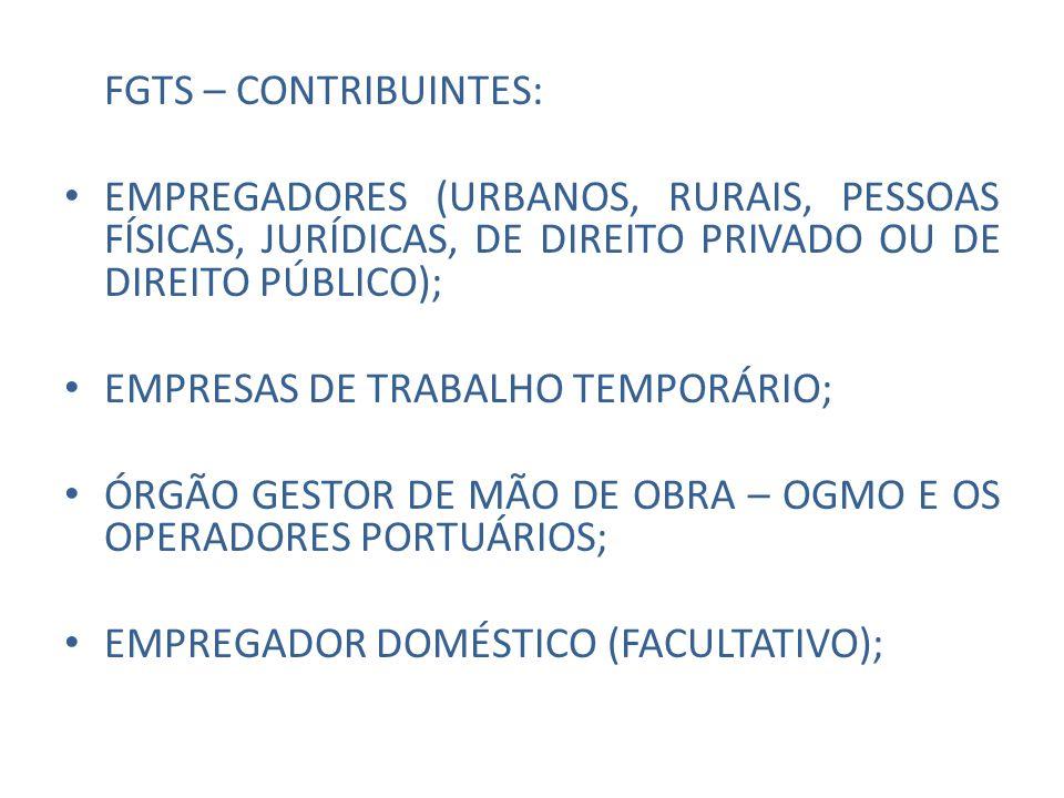 FGTS – MOVIMENTAÇÃO – ART.20 LEI 8036/90 art.