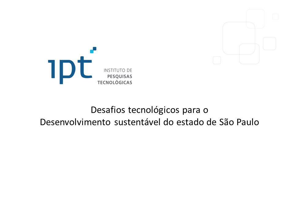 Desafios tecnológicos para o Desenvolvimento sustentável do estado de São Paulo