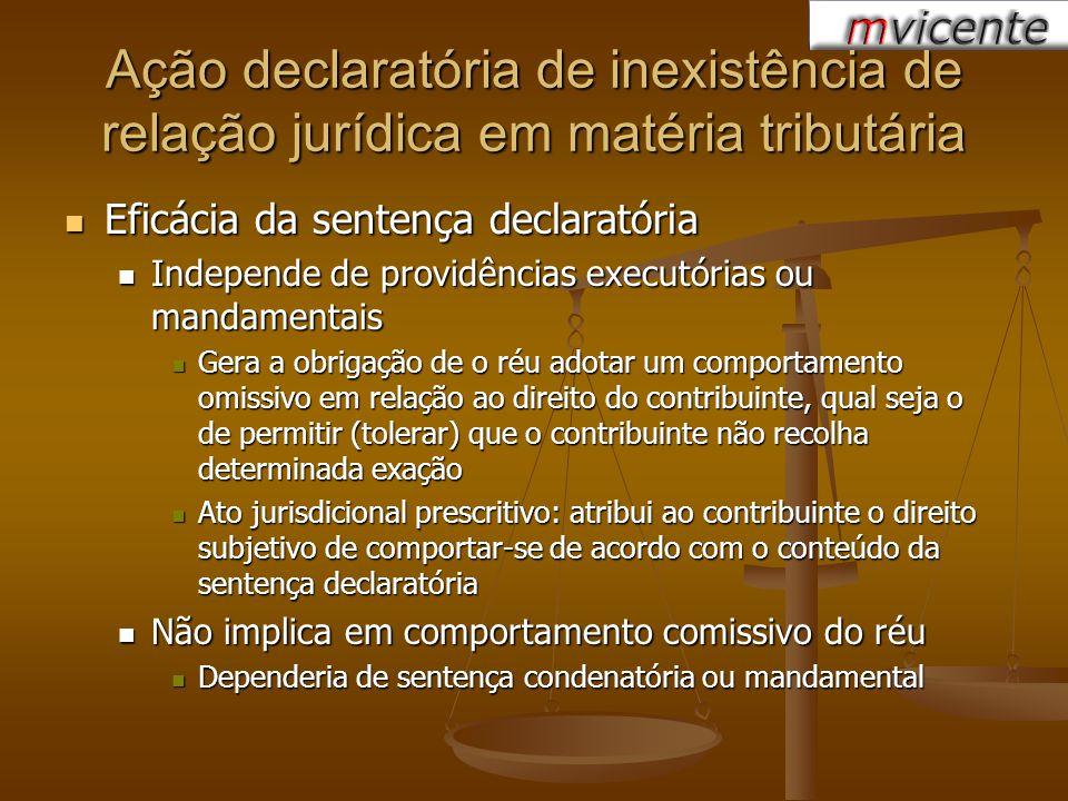 Eficácia da sentença declaratória Eficácia da sentença declaratória Independe de providências executórias ou mandamentais Independe de providências ex