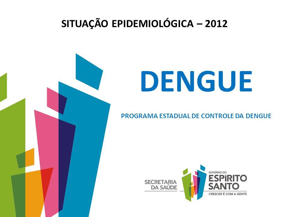 SITUAÇÃO EPIDEMIOLÓGICA – 2012 DENGUE PROGRAMA ESTADUAL DE CONTROLE DA DENGUE