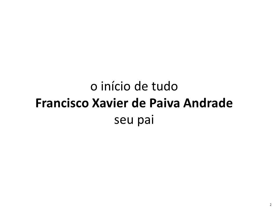 o início de tudo Francisco Xavier de Paiva Andrade seu pai 2