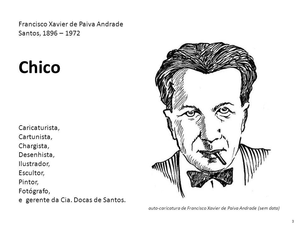auto-caricatura de Francisco Xavier de Paiva Andrade (sem data) Francisco Xavier de Paiva Andrade Santos, 1896 – 1972 Chico Caricaturista, Cartunista,
