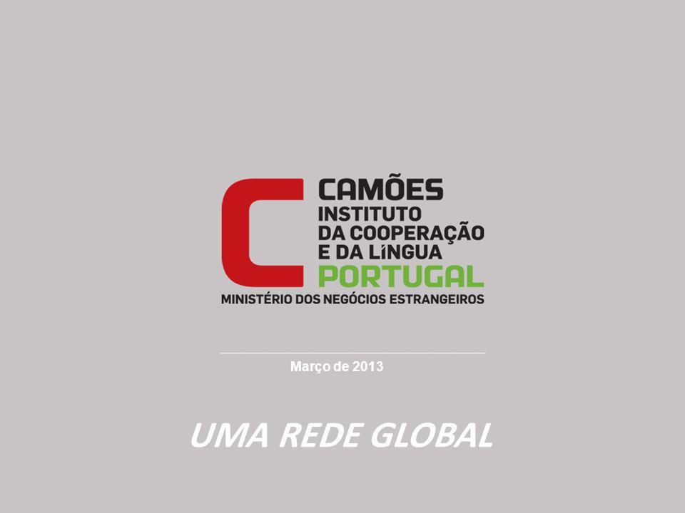 Março de 2013 UMA REDE GLOBAL