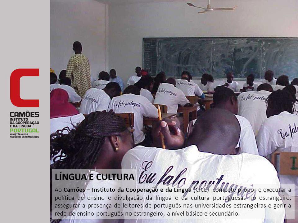 Ao Camões – Instituto da Cooperação e da Língua (CICL) compete propor e executar a política de ensino e divulgação da língua e da cultura portuguesas